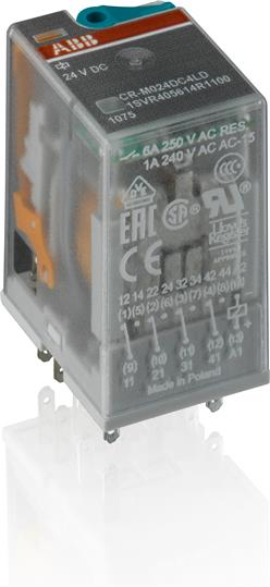 Реле CR-M012DC4LG 12B DC 4ПК (6A) 1SVR405618R4100 ABB