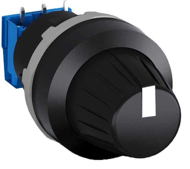 Потенциометр MT-210B в сборе 10 кОм кольцо хромированный пластик 1SFA611410R2106 ABB