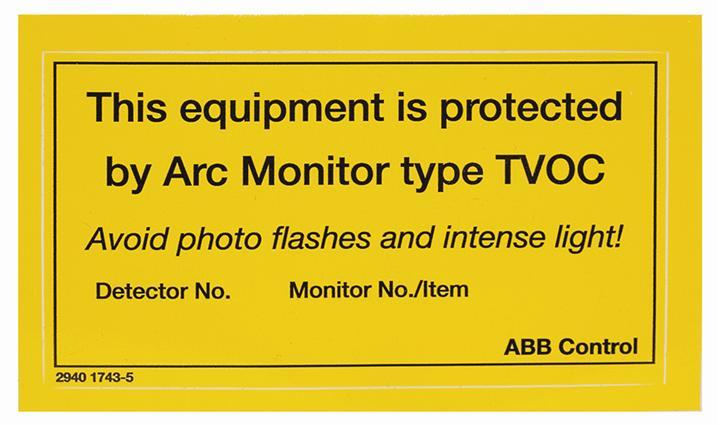Дополнительный дисплей TVOC-2-H1 для модуля контроля дуги 1SFA664002R1005 ABB