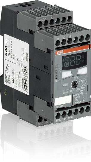 Реле контроля температуры С512-W цифровое (-50 +500C) с двумя ун иверсальными порогами срабатывания, 1SAR700100R0010 ABB