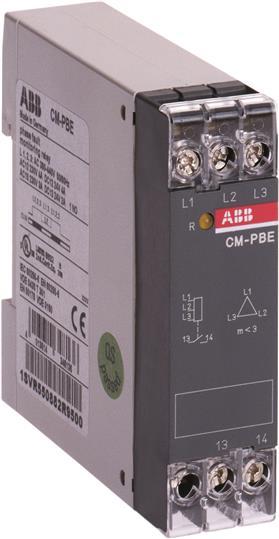 Реле контроля напряжения CM-PBE (контроль 3 фаз) (контроль обрыва фазы L1-L2-L3 3x380-440В ) 1НО кон 1SVR550882R9500 ABB