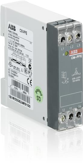 Реле контроля чередования фаз CM-PFE (напряжение питания/контрол я 3x208-440В) 1ПК 1SVR550824R9100 ABB