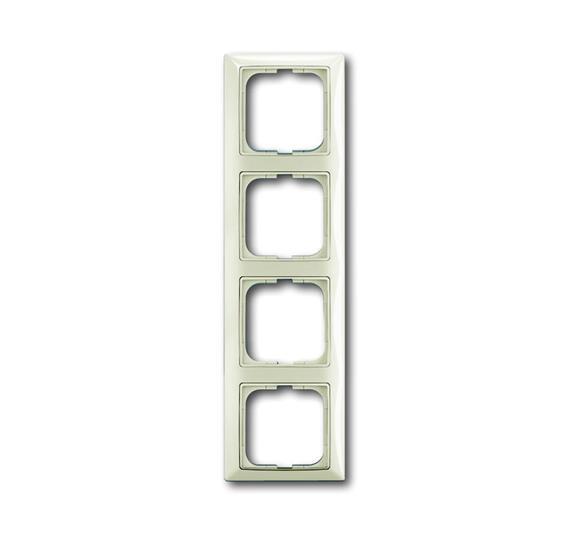 Рамка 4-постовая, серия Basic 55, цвет chalet-white 1725-0-1514 ABB