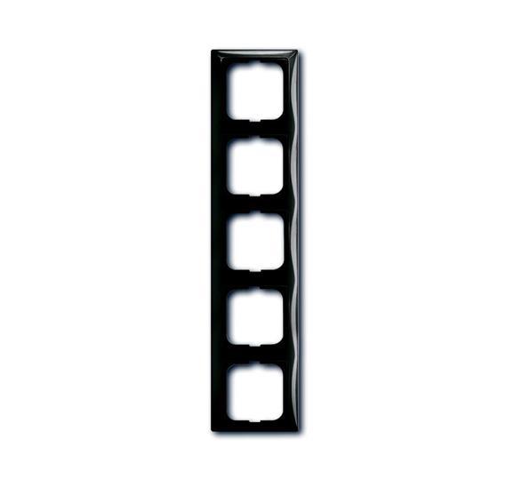 Рамка 5-постовая, серия Basic 55, цвет château-black 1725-0-1510 ABB