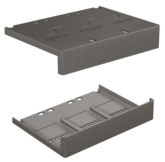 Крышки изолирующие низкие для силовых выводов TERMINAL COVERS LOW 3P S6-T6 (комплект из 2шт.) 1SDA014038R1 ABB