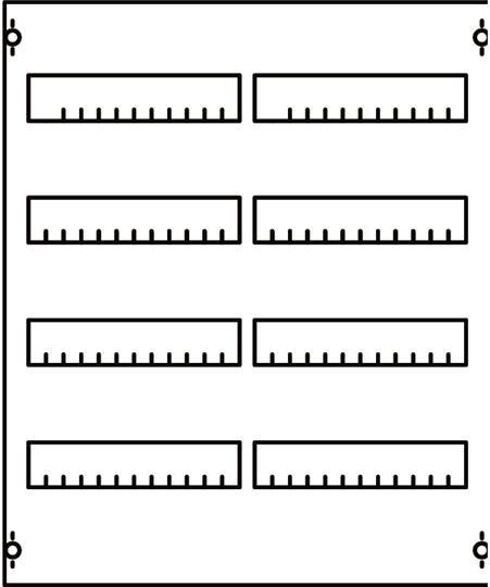 Панель для модульных уст-в 2ряда/4рейки 2V0A ABB