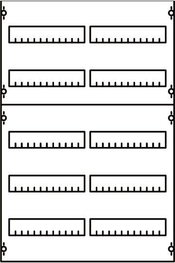 Панель для модульных уст-в 2ряда/5реек 2V1A ABB