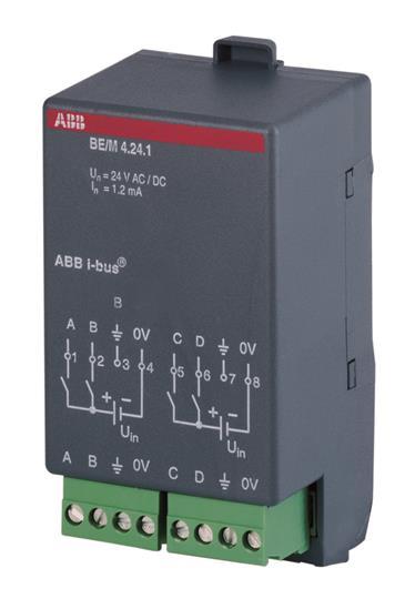 BE/M 4.24.1 Бинарный вход, 4-х канальный, 12/24V 2CDG110006R0011 ABB