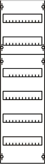 Панель для модульных уст-в 1ряд/6 реек 1V2A ABB