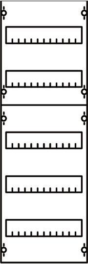 Панель для модульных уст-в 1ряд/5 реек 1V1A ABB