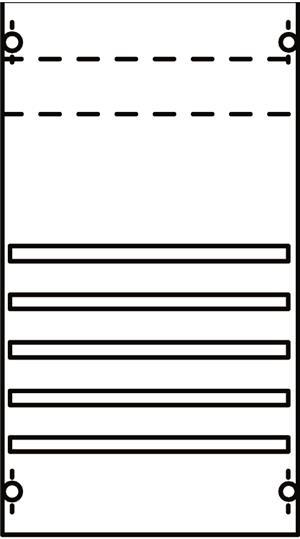 Панель с системой шин 250А 1ряд/3рейки 1V002A ABB