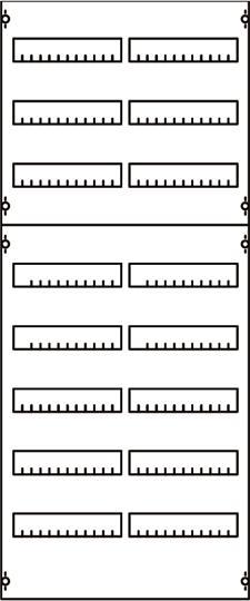 Панель для модульных уст-в 2ряда/8реек 2V4A ABB