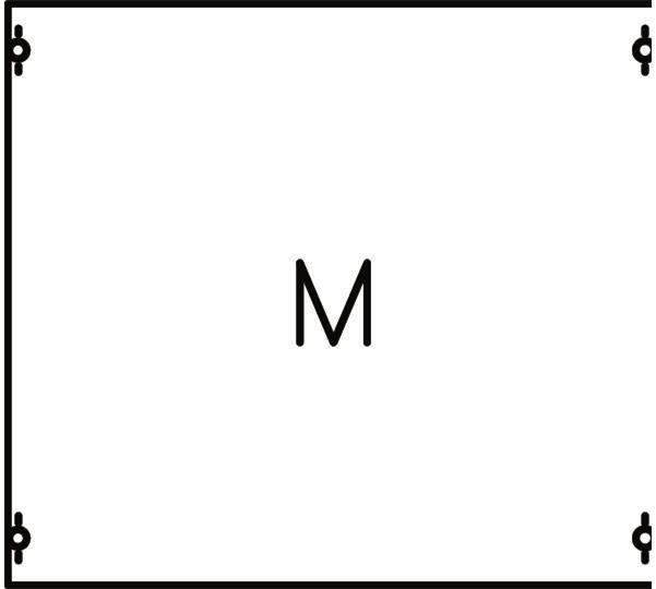 Панель с монтажной платой 2ряда/3 рейки 2M00A ABB