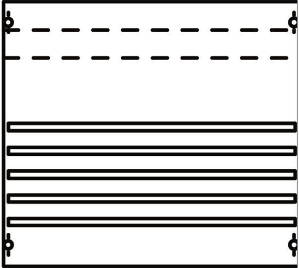 Панель с системой шин 250А 2ряда/3рейки 2V002A ABB