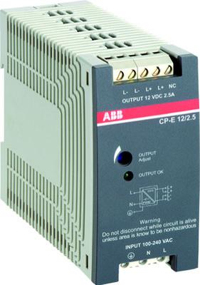 Блок питания CP-E 12/2.5 (регулир. вых. напряж) 90-265В AC / 120-370В DC, выход 12В DC /2.5A 1SVR427032R1000 ABB