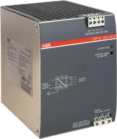 Блок питания CP-C 24/10.0 (регулир. вых. напряж) вход 110-240В AC, выход 24В DC /10A 1SVR427025R0000 ABB
