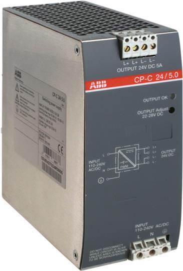 Блок питания CP-C 24/5.0 (регулир. вых. напряж) вход 110-240В AC, выход 24В DC /5A 1SVR427024R0000 ABB