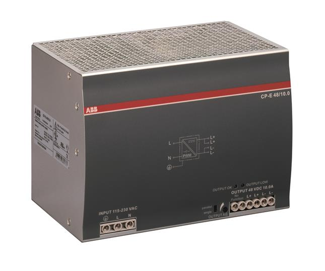 Блок питания CP-E 48/10.0 вход 90-264В AC / 120-370В DC, выход 48В DC /10A 1SVR427035R2000 ABB