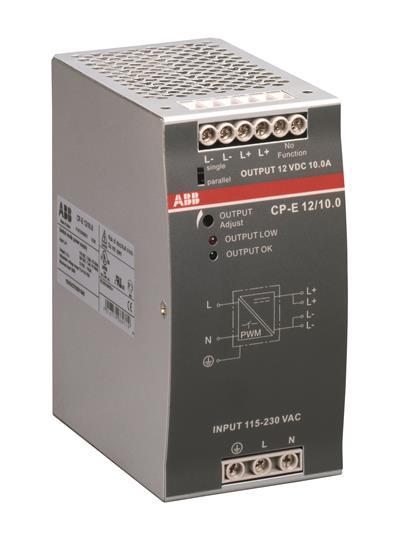 Блок питания CP-E 12/10.0 вход 90-132, 186-264В AC / 210-370В DC, выход 12В DC / 10A 1SVR427035R1000 ABB
