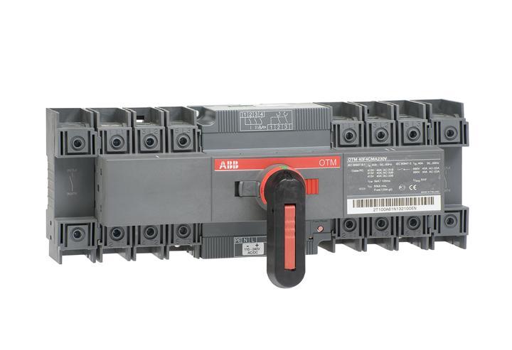 Реверсивный рубильник OTM40F4CMA230V с моторным приводом 4п 1SCA120102R1001 ABB