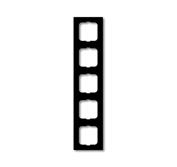 Рамка 5-постовая, серия, серия solo/future, цвет чёрный бархат 1754-0-4423 ABB