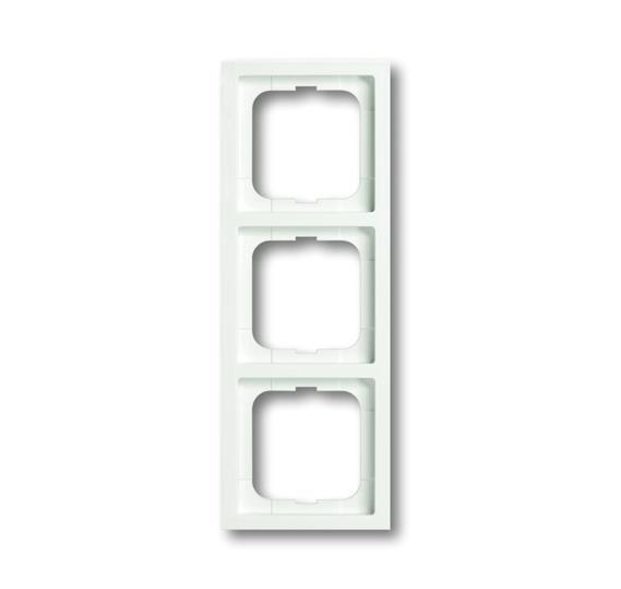 Рамка 3-постовая, серия, серия solo/future linear, цвет белый бархат 1754-0-4416 ABB