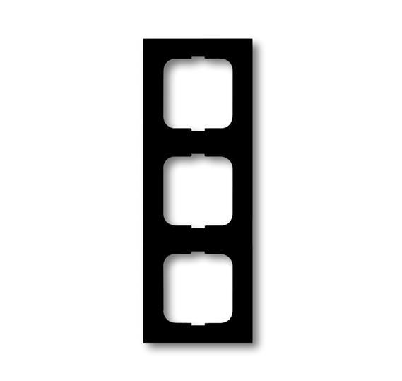 Рамка 3-постовая, серия, серия solo/future, цвет чёрный бархат 1754-0-4421 ABB