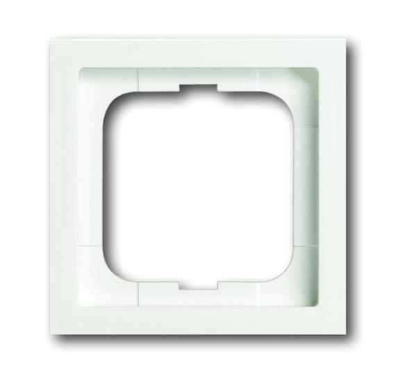 Рамка 1-постовая, серия, серия solo/future linear, цвет белый бархат 1754-0-4414 ABB