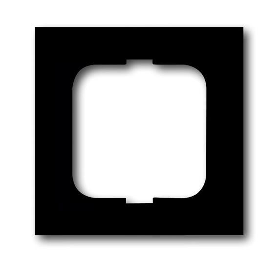 Рамка 1-постовая, серия, серия solo/future, цвет чёрный бархат 1754-0-4419 ABB