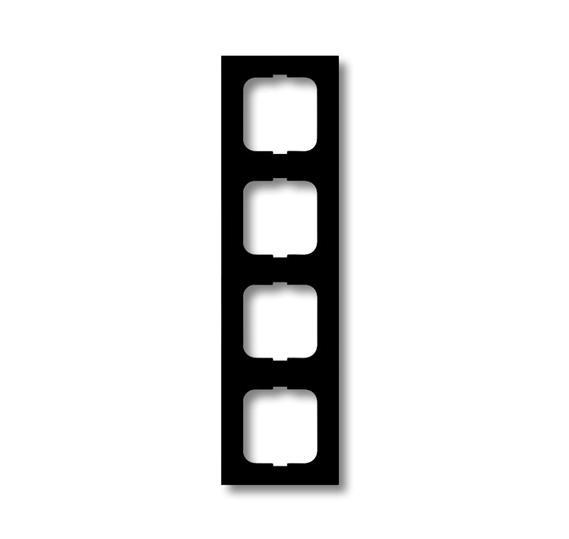 Рамка 4-постовая, серия, серия solo/future, цвет чёрный бархат 1754-0-4422 ABB