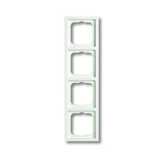 Рамка 4-постовая, серия, серия solo/future linear, цвет белый бархат 1754-0-4417 ABB