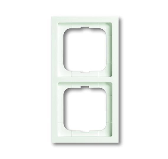 Рамка 2-постовая, серия, серия solo/future linear, цвет белый бархат 1754-0-4415 ABB