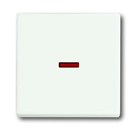 Клавиша для механизма 1-клавишного выключателя/переключателя/кнопки с красной линзой, серия solo/fut 1751-0-3033 ABB