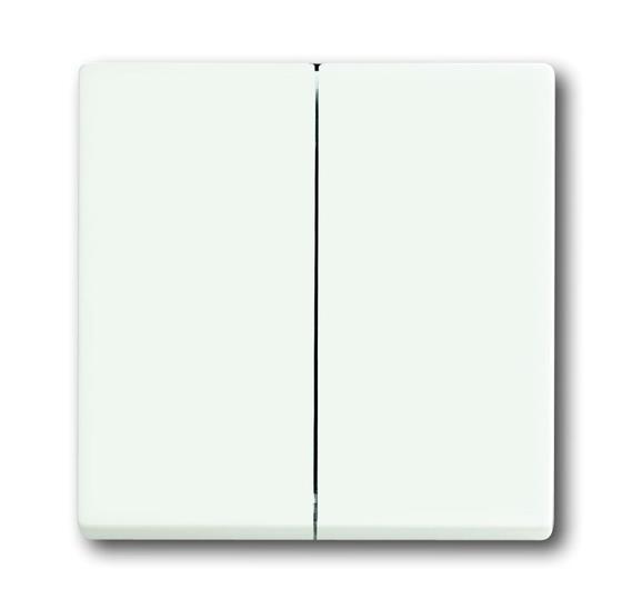 Клавиша для механизма 2-клавишных выключателей/переключателей/кнопок, серия solo/future, цвет белый 1751-0-3024 ABB