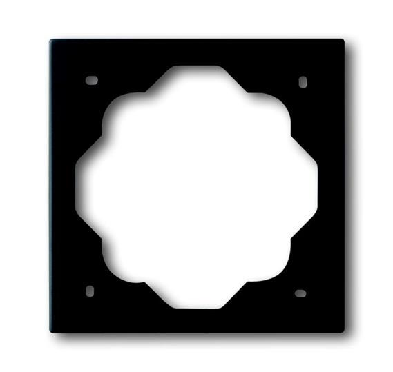 Рамка 1-постовая, серия impuls, цвет чёрный бархат 1754-0-4424 ABB