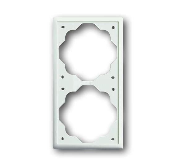 Рамка 2-постовая, серия impuls, цвет белый бархат 1754-0-4431 ABB
