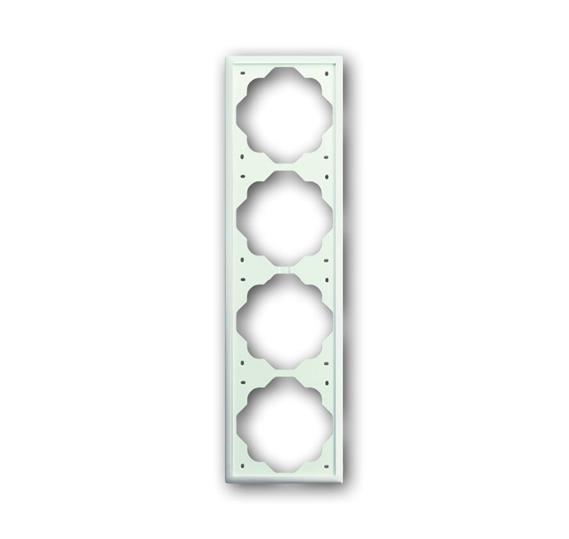 Рамка 4-постовая, серия impuls, цвет белый бархат 1754-0-4434 ABB