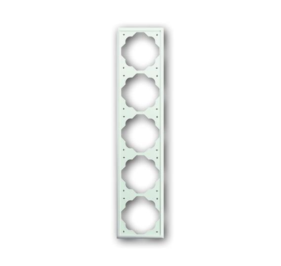 Рамка 5-постовая, серия impuls, цвет белый бархат 1754-0-4436 ABB