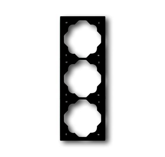 Рамка 3-постовая, серия impuls, цвет чёрный бархат 1754-0-4426 ABB