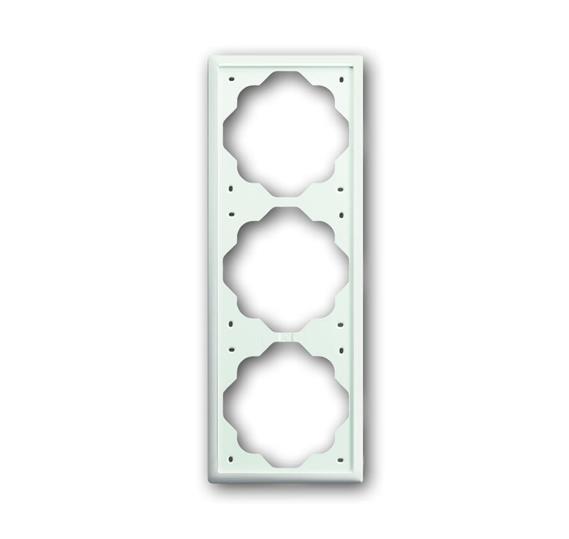 Рамка 3-постовая, серия impuls, цвет белый бархат 1754-0-4433 ABB