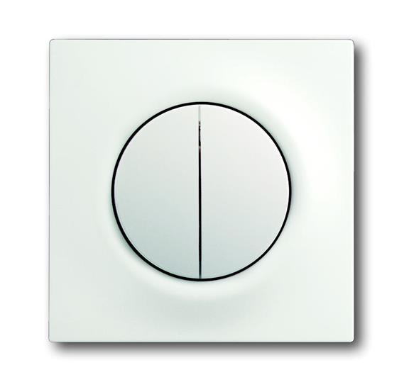 Клавиша для механизма 2-клавишных выключателей/переключателей/кнопок, серия impuls, цвет белый барха 1753-0-0181 ABB