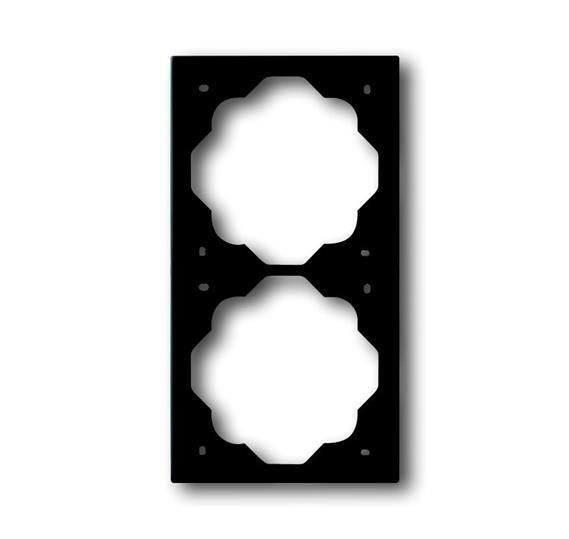 Рамка 2-постовая, серия impuls, цвет чёрный бархат 1754-0-4425 ABB