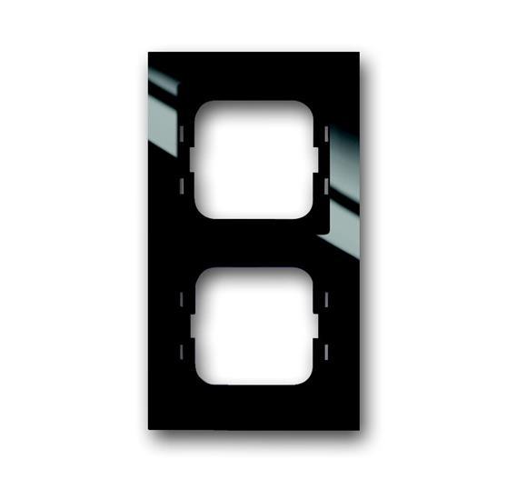 Рамка 2-постовая, серия axcent, цвет чёрный 1754-0-4410 ABB