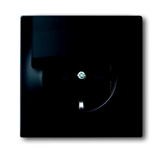 Розетка SCHUKO 16А 250В с крышкой, серия impuls, цвет чёрный бархат 2018-0-1496 ABB