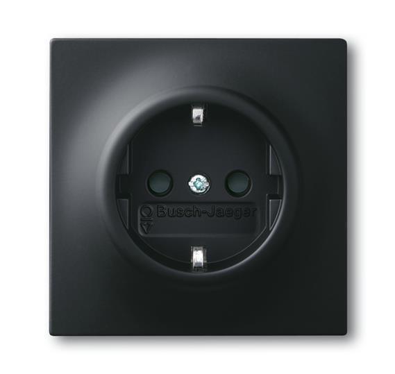 Розетка SCHUKO 16А 250В, серия impuls, цвет чёрный бархат 2011-0-3886 ABB
