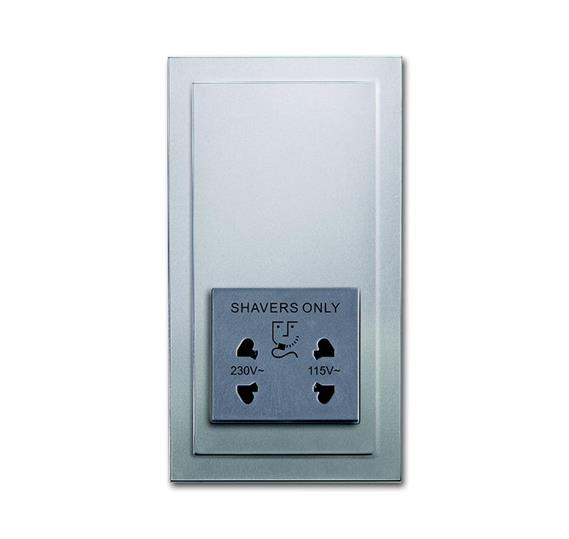 Розетка для электробритвы, 220/115 В, 20 ВА, серия solo/future, цвет серебристо-алюминиевый 2130-0-0291 ABB