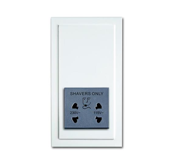 Розетка для электробритвы, 220/115 В, 20 ВА, серия solo/future, цвет davos/альпийский белый 2130-0-0292 ABB