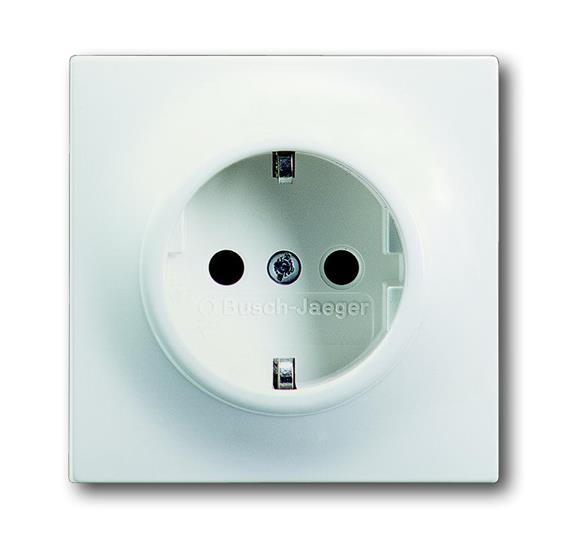 Розетка SCHUKO 16А 250В, серия impuls, цвет белый бархат 2011-0-3890 ABB