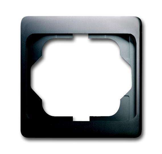 Рамка 1-постовая, серия alpha exclusive, цвет платина 1754-0-4373 ABB