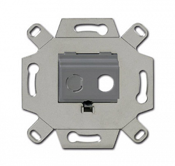 Адаптор/суппорт для ТВ-разъёмов тип F, BNC-F, цвет серый 0230-0-0438 ABB